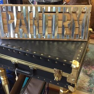 Pantry sign-Cut Tin on Wood